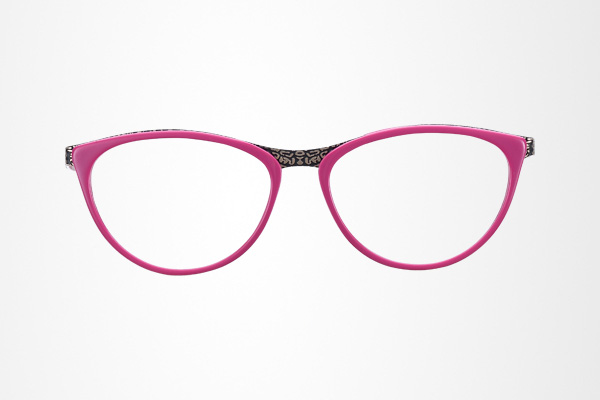 fashion design women's cat eye glasses frame with metal temple