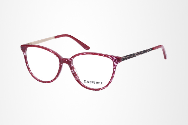 unique stripe color women's round eye acetate glasses frame with metal temple