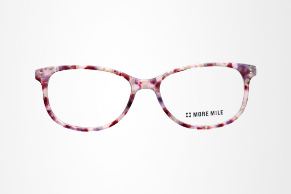 beautiful flower pattern women's oval acetate glasses frame